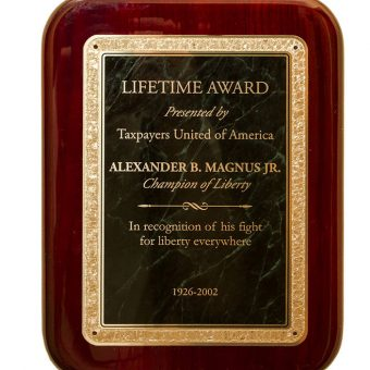 Taxpayers United Of America Honour Alexander B. Magnus Jnr