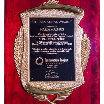 Samaritan Award MCT From Persecution Project